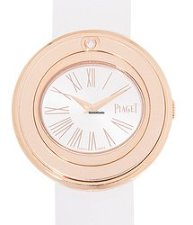 Piaget Possession 18kt Rose Gold Silver Quartz G0A41084