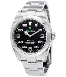 Rolex Air King Black Dial Stainless Steel Men's Watch BKAO