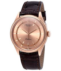 Rolex Cellini Pink Dial 18K Everose Gold Men's Watch