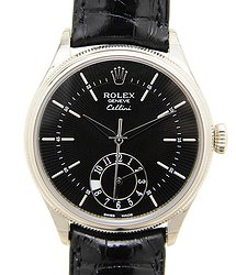 Rolex Cellini Series 18kt White Gold Black Automatic 50529