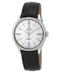 Rolex Cellini Time White Dial Automatic Men's 18 Carat White Gold Watch