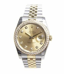 Rolex Datejust 18kt Gold & Diamond & Steel Gold Automatic 116243GCH