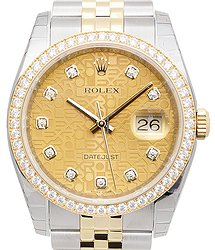 Rolex Datejust 18kt Gold & Diamond & Steel Gold Automatic 116243JCH_J