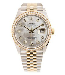 Rolex Datejust 18kt Gold & Diamond & Steel White Automatic 126283RBR-NGWT_J