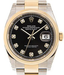 Rolex Datejust 18kt Gold & Steel Black Automatic 126203GBK_O