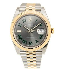 Rolex Datejust 18kt Gold & Steel Gray Automatic 126333GYGREENRN_J