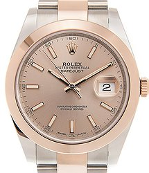 Rolex Datejust 18kt Rose Gold & Steel Brown Automatic 126301SUNDUST_O