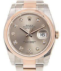 Rolex Datejust 18kt Rose Gold & Steel Gray Automatic 116201GSTEEL_O