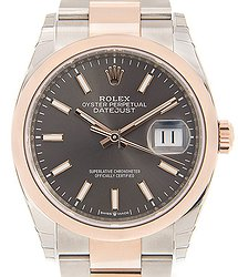 Rolex Datejust 18kt Rose Gold & Steel Gray Automatic 126201GY_O