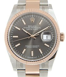 Rolex Datejust 18kt Rose Gold & Steel Gray Automatic 126231GY_O