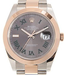 Rolex Datejust 18kt Rose Gold & Steel Gray Automatic 126301GYGREEN_O