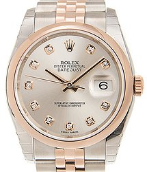 Rolex Datejust 18kt Rose Gold & Steel Silver Automatic 116201GSV_J