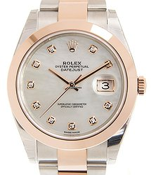 Rolex Datejust 18kt Rose Gold & Steel White Automatic 126301NGWT_O