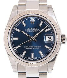 Rolex Datejust 18kt White Gold Blue Automatic 178274BL_O