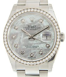 Rolex Datejust 18kt White Gold & Diamond & Steel White Automatic 126284RBRNGWT_O