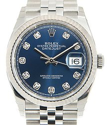 Rolex Datejust 18kt White Gold & Steel Blue Automatic 126234GBL_J