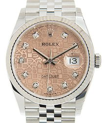 Rolex Datejust 18kt White Gold & Steel Pink Automatic 126234JPK_J