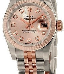 Rolex Datejust 26mm Steel and Everose Gold