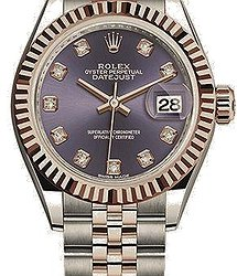 Rolex Datejust28 mm Steel and Everose Gold