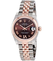 Rolex Datejust 31 Automatic Chocolate Diamond Dial Ladies Watch
