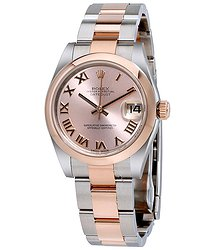 Rolex Datejust 31 Pink Dial Steel and 18K Rose Gold Oyster Ladies Watch