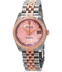 Rolex Datejust 31 Pink Jubilee Diamond Dial Ladies Steel and 18kt Everose Gold Watch
