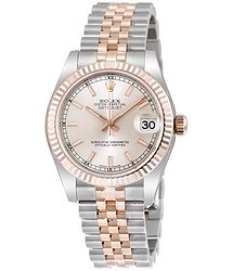 Rolex Datejust 31 Silver Dial Steel 18 Everose Gold Jubilee Automatic Ladies Watch