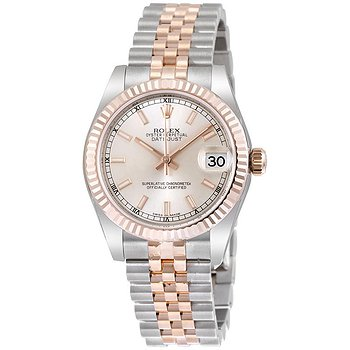 Купить часы Rolex Datejust 31 Silver Dial Steel 18 Everose Gold Jubilee Automatic Ladies Watch  в ломбарде швейцарских часов