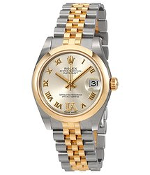 Rolex Datejust 31 Silver Dial Steel and 18K Yellow Gold Ladies Watch