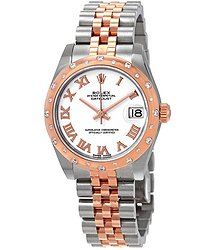 Rolex Datejust 31 White Dial Ladies Steel and 18kt Everose Gold Jubilee Watch