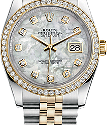 Rolex Datejust 31mm Steel and Yellow Gold 178383 WhiteMOP Diamonds