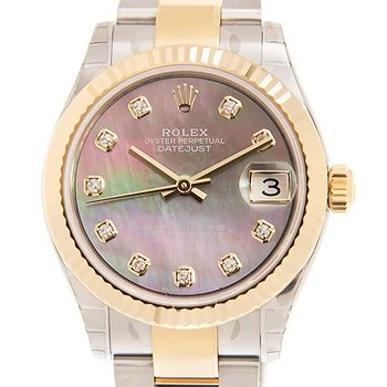 Купить часы Rolex Datejust 31Mother of Pearl Diamond Dial Automatic Ladies Steel and 18kt Yellow Gold Oyster Watch  в ломбарде швейцарских часов