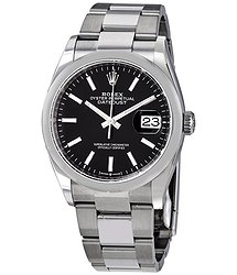 Rolex Datejust 36 Automatic Black Dial Men's Oyster Watch 126200BKSO