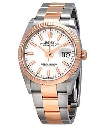 Rolex Datejust 36 Automatic White Dial Men's Steel and 18kt Everose Gold Oyster Watch