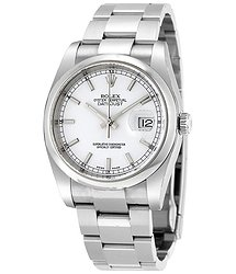 Rolex Datejust 36 Automatic White Dial Stainless Steel Oyster Bracelet Men's Watch 116200WSO