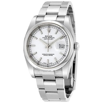 Купить часы Rolex Datejust 36 Automatic White Dial Stainless Steel Oyster Bracelet Men's Watch 116200WSO  в ломбарде швейцарских часов