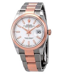 Rolex Datejust 36 Automatic White Dial Steel and 18k Everose Gold Men's Watch