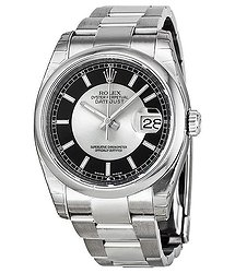 Rolex Datejust 36 Black and Grey Dial Stainless Steel Oyster Bracelet Automatic Men's Watch 116200BKRSO