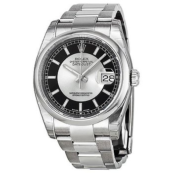 Купить часы Rolex Datejust 36 Black and Grey Dial Stainless Steel Oyster Bracelet Automatic Men's Watch 116200BKRSO  в ломбарде швейцарских часов