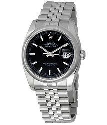 Rolex Datejust 36 Black Dial Stainless Steel Jubilee Bracelet Automatic Men's Watch 116200BKSJ