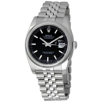 Купить часы Rolex Datejust 36 Black Dial Stainless Steel Jubilee Bracelet Automatic Men's Watch 116200BKSJ  в ломбарде швейцарских часов