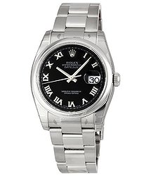 Rolex Datejust 36 Black Dial Stainless Steel Oyster Bracelet Automatic Men's Watch 116200BKRO