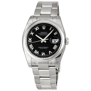 Купить часы Rolex Datejust 36 Black Dial Stainless Steel Oyster Bracelet Automatic Men's Watch 116200BKRO  в ломбарде швейцарских часов