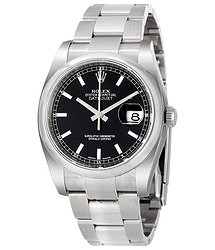 Rolex Datejust 36 Black Dial Stainless Steel Oyster Bracelet Automatic Men's Watch 116200BKSO