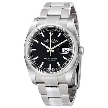 Купить часы Rolex Datejust 36 Black Dial Stainless Steel Oyster Bracelet Automatic Men's Watch 116200BKSO  в ломбарде швейцарских часов