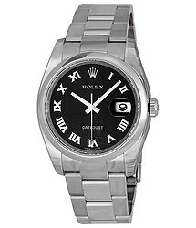 Rolex Datejust 36 Black Dial Stainless Steel Oyster Bracelet Automatic Men's Watch