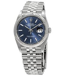 Rolex Datejust 36 Blue Dial Automatic Ladies Jubilee Watch
