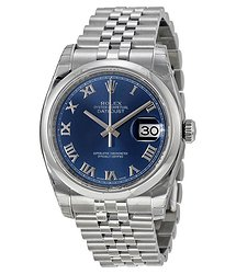 Rolex Datejust 36 Blue Dial Stainless Steel Jubilee Bracelet Automatic Men's Watch
