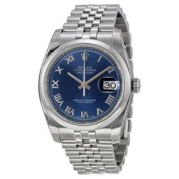 Купить часы Rolex Datejust 36 Blue Dial Stainless Steel Jubilee Bracelet Automatic Men's Watch  в ломбарде швейцарских часов