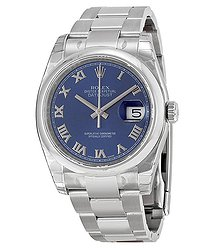 Rolex Datejust 36 Blue Dial Stainless Steel Oyster Bracelet Automatic Men's Watch BLRO